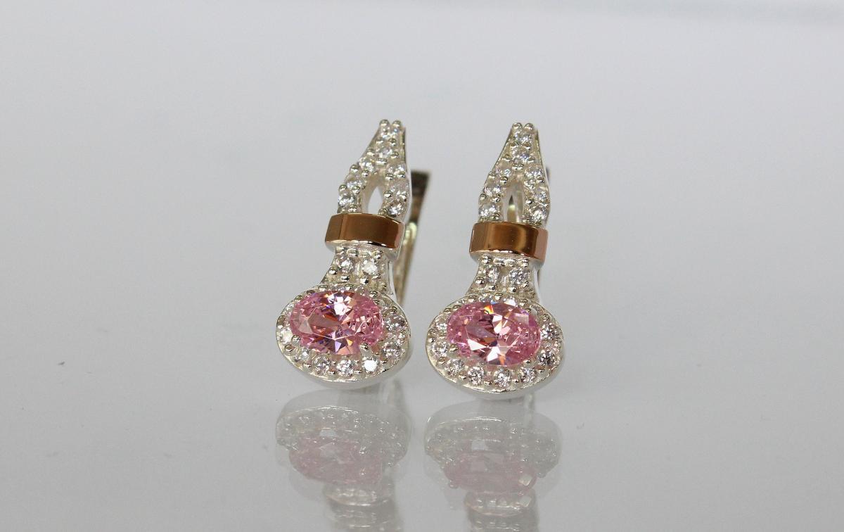 431d562989364a Срібні сережки з золотими пластинами купити, Срібні сережки з ...